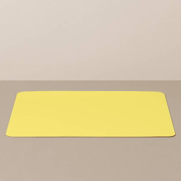 Tray insert / placemat XL, square, in black / yellow