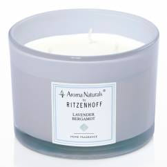 Modern scented candle 3-wick, lavender bergamot