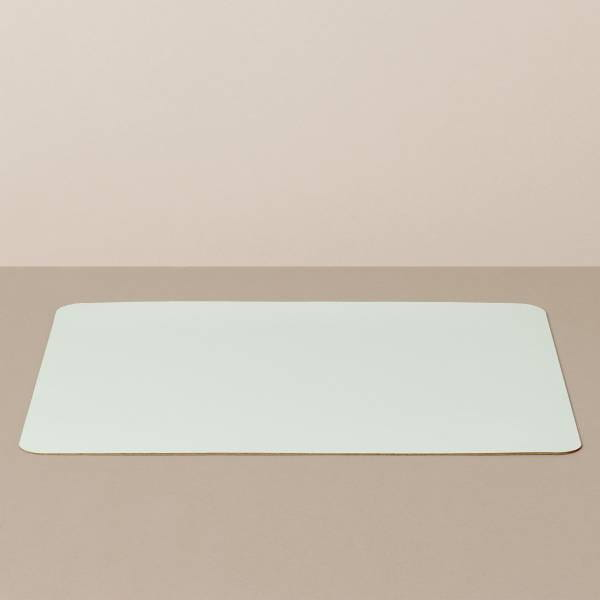 Tray insert / placemat XL, square, in white / mint