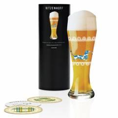 Weizen wheat beer glass by Sandra Brandhofer (dachshund)