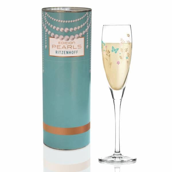 Pearls Edition Proseccoglas von Ramona Rosenkranz (Blumen)