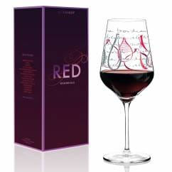 Red red wine glass from Virginia Romo